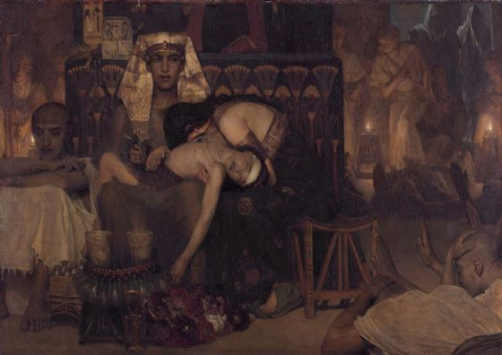 Alma-Tadema, Sir Lawrence: Death of the Pharaoh's Firstborn Son. Fine Art Print/Poster. Sizes: A4/A3/A2/A1 (003791)